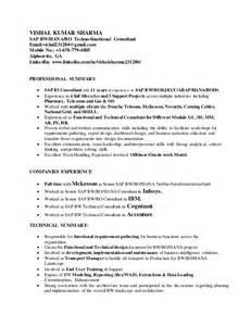 Sap Bi Sle Resume by Sap Bi Resume Of Vishal Sharma