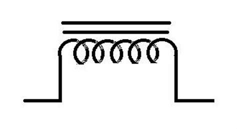 inductor with magnetic symbol image gallery iron inductor symbol