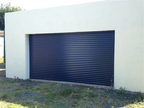 blue garage door blue roller garage door installed in foxholes