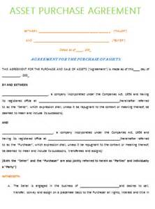 asset purchase agreement template best example