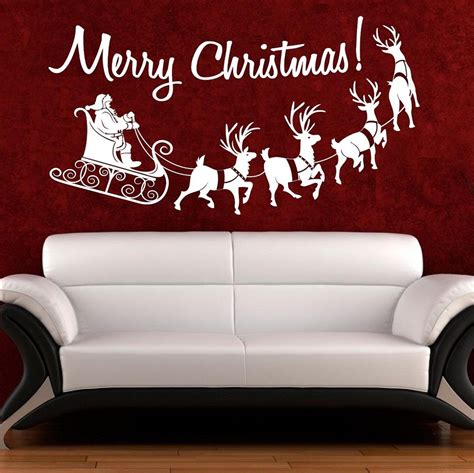 christmas wall art quote sticker merry christmas window