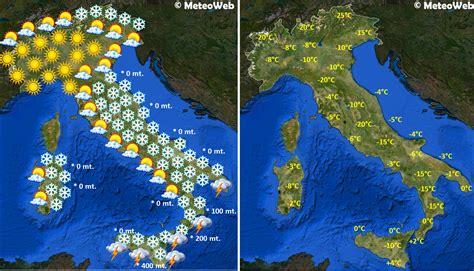 bollettino d italia previsioni meteo capodanno centro sud sommerso di neve