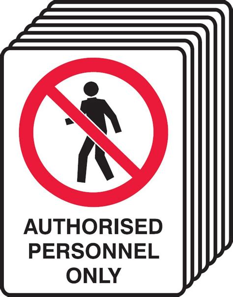 7 pack safety signs authorised personnel only seton