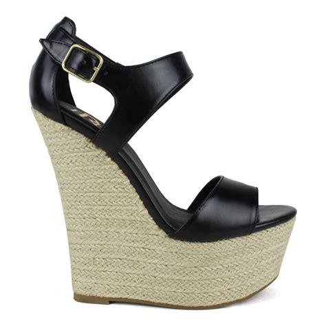 black high heeled wedges black wedge heels sandals www imgkid the image kid