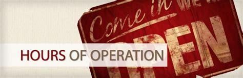 hours of operation we salute you destiny usa
