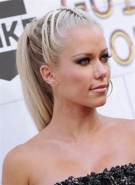 kendra hair kendra wilkinson braided ponytail hairstyles popular