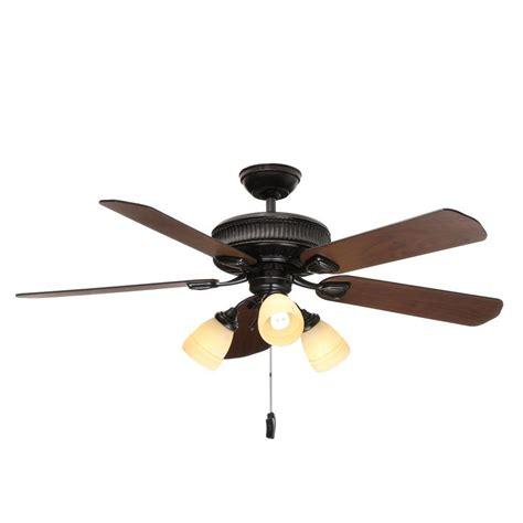 copper ceiling fan with light hton bay metro 54 in indoor outdoor rustic copper
