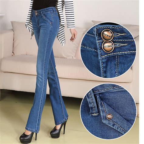 2015 bell bottom jeans 2015 autumn bell bottom jeans female slim elastic mid