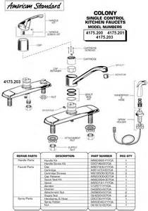 American Standard Kitchen Faucet Parts Diagram Plumbingwarehouse American Standard Commercial Faucet Parts For Models 4175 200 475 201