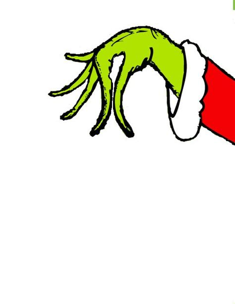 grinch hands coloring page best photos of printable grinch hand grinch hand