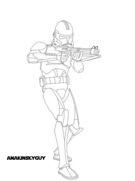 commander fox coloring page star wars clone trooper phase 2 coloring pages pictures to
