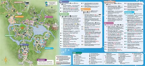 printable disney world maps parks 2014 walt disney world park maps with fastpass photo 8 of