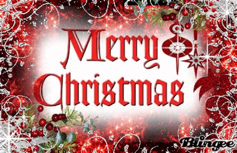 merry christmas red  silver picture  blingeecom