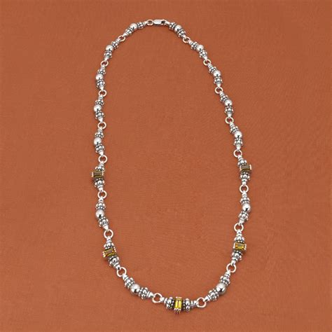 lagos sterling silver 18k yellow gold baguette citrine