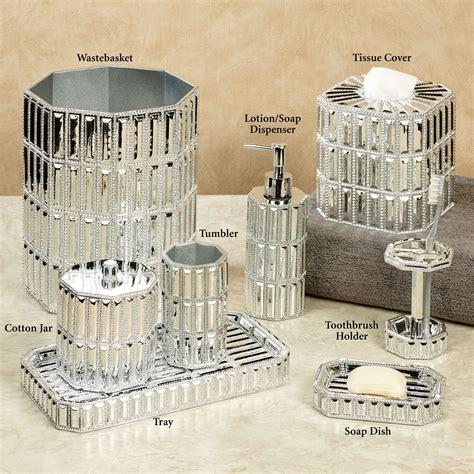silver bathroom accessories glitz silver bath accessories