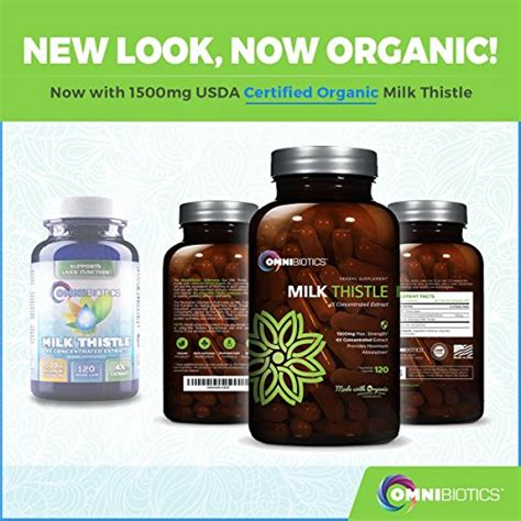 The Strongest Detox by Organic Milk Thistle Capsules 1500mg 4x Concentrated