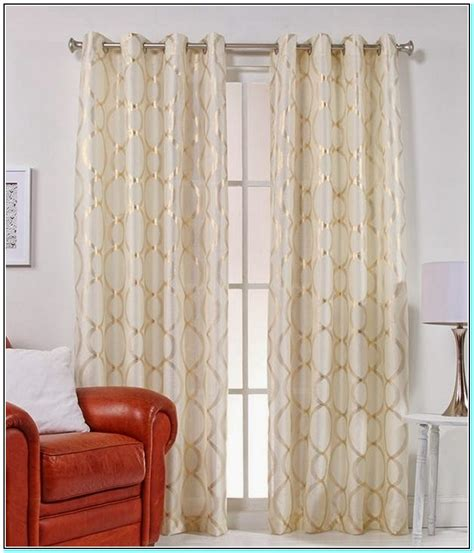 white curtain panels curtains white and gold