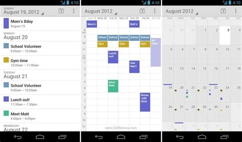 calendar layout in android how to use views month day week from android stock
