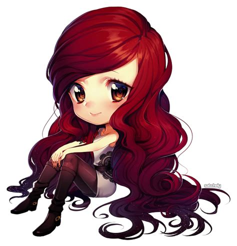 cute anime chibi girl with red hair lauren by satchely deviantart com on deviantart manga