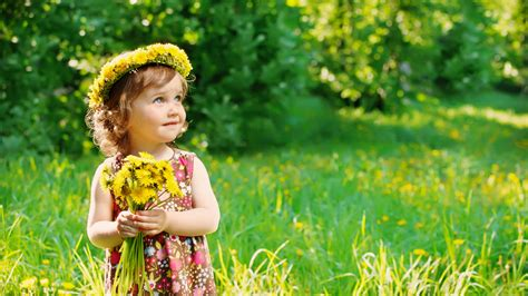 wallpaper flower girl wallpaper cute girl flowers garden 5k cute 612