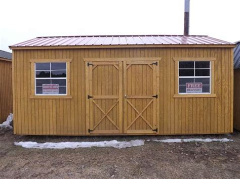 Hickory Sheds by 2015 Zf Hickory Buildings Storage Sheds 10 X 20 Side