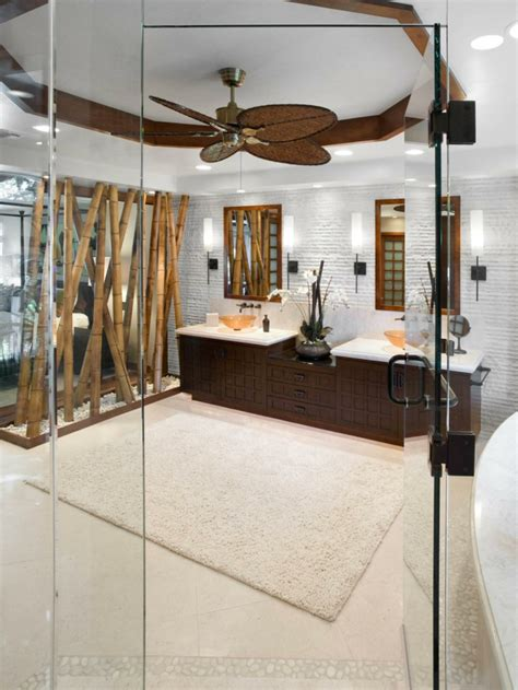 deckenventilator im badezimmer 33 bambus deko ideen f 252 r ein zuhause mit fern 246 stlichem flair