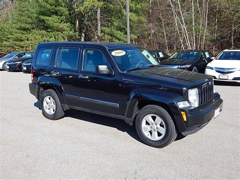 acura jeep 2009 pre owned 2009 jeep liberty sport 4x4 suv in nashua 2206a