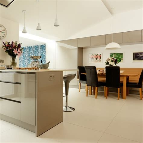 contemporary grey kitchen diner housetohome co uk