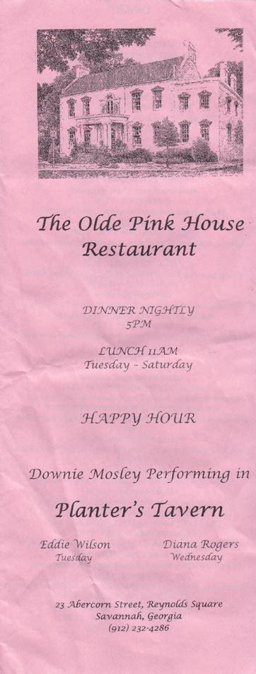 olde pink house menu pink house menu the olde pink house 23 abercorn