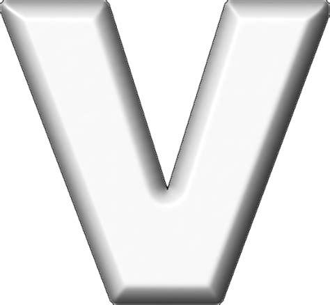 presentation alphabets white refrigerator magnet v