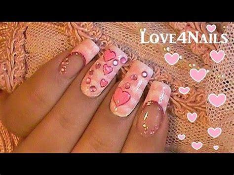 imagenes de uñas pintadas mano alzada u 241 as decoradas con corazones 9 doovi