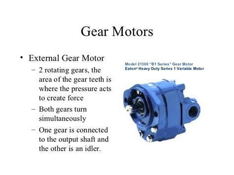 hydraulic gear motor how it works hydraulic motors