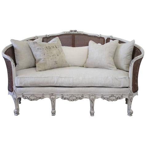 french sofa for sale 19th century antique french cane back louis xv style sofa