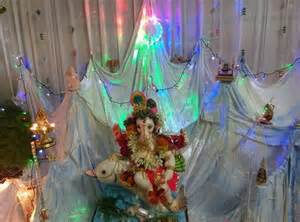 Home Ganpati Decoration by Ganpati Decoration Ideas At Home Ganesh Pooja Decoration