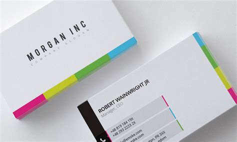 Colorful Business Card Template by Colorful Corporate Business Card