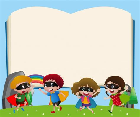 children s card templates border template with vector free