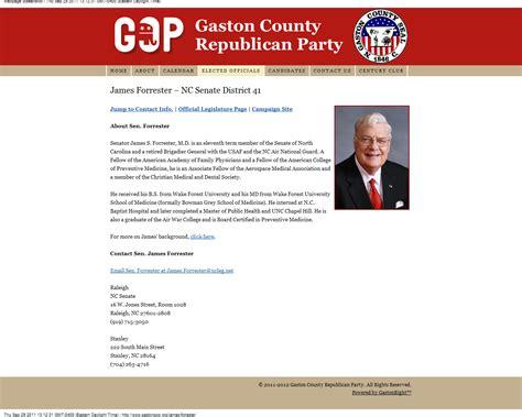 biography website exle breaking anti gay n c senator forrester falsifies