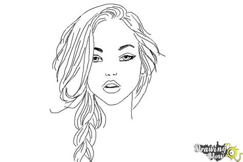 pretty hair coloring pages how to draw a pretty girl drawingnow