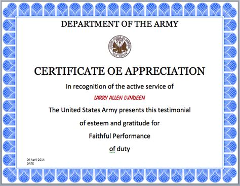 army certificate of template army certificate template microsoft word templates