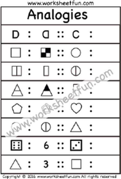 analogy pattern recognition questions math analogies practice worksheet sle practice tests