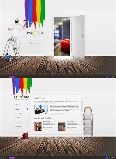 House Painter Html5 Template House Painter Website Template