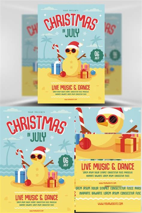 Flyer Template Christmas In July 187 Nitrogfx Download Unique Graphics For Creative Designers In July Flyer Template