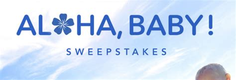 Baby Sweepstakes 2014 - disney aloha baby sweepstakes sun sweeps