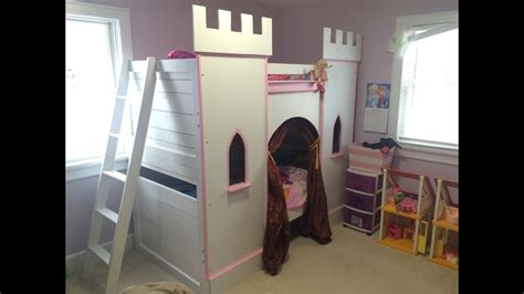 princess castle bunk bed youtube