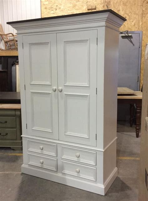 Armoire With Hanging Rod And Drawers Country Custom Country Wardrobe By Katemadison The Armoire Has Interior