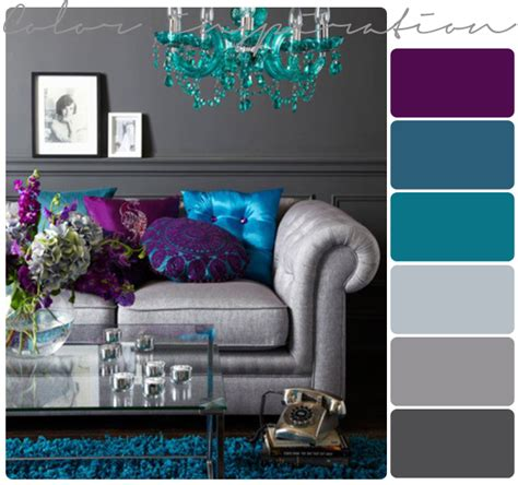 Living Room Colour Palette by Purple Gray Turquoise And Purple On