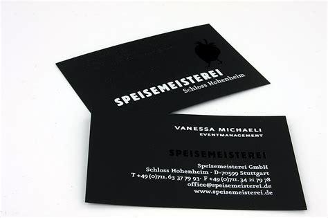 Visitenkarten Schwarz by Schwarze Visitenkarten Mit Wei 223 Druck Und Lackschwarz