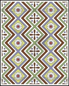 pattern in egyptian art ancient egyptian ornamental pattern vector image