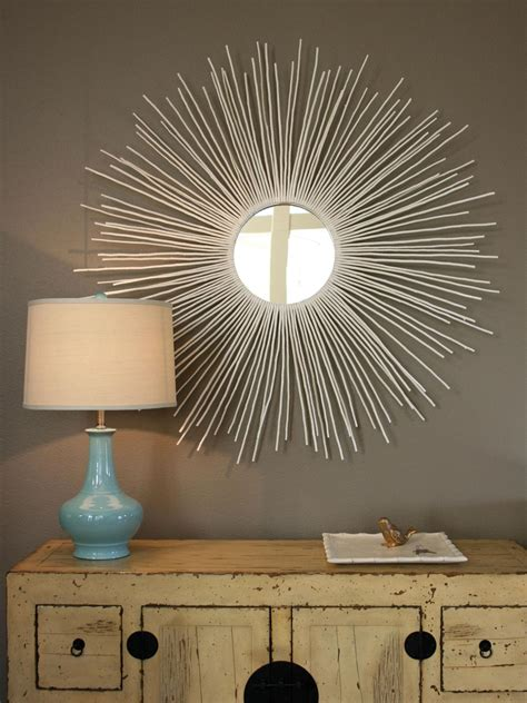mirror decoration create a sunburst mirror hgtv