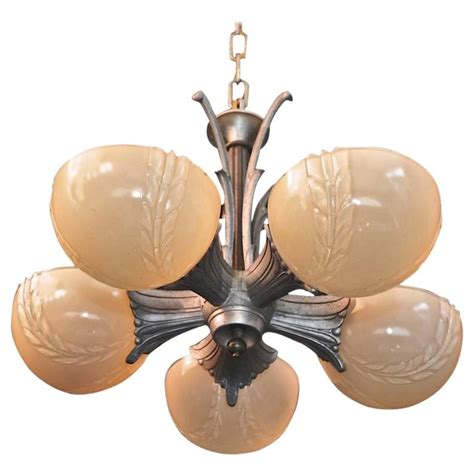 Degue Chandelier Beautiful Art Deco Chandelier For Sale At 1stdibs